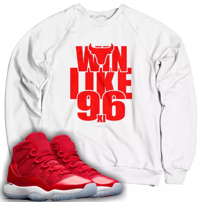 9c29d479d57 Win Like 96 Sweatshirt Designed to Match Air Jordan 11 | Etsy
