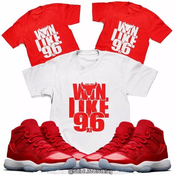 a65013c802e2c0 Win Like 96 Tee Designed to Match Air Jordan 11 Sneakers