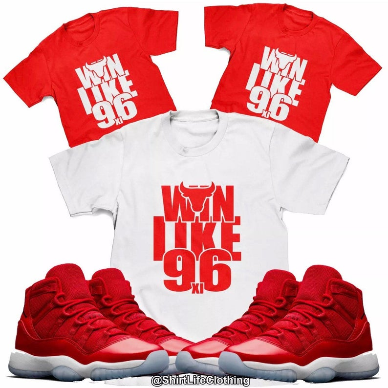 another chance 6fea2 befa0 Win Like 96 Tee Designed to Match Air Jordan 11 Sneakers (S-3XL)