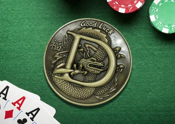 Guardia Di Carte Da Poker Drago Edizione Limitata Etsy