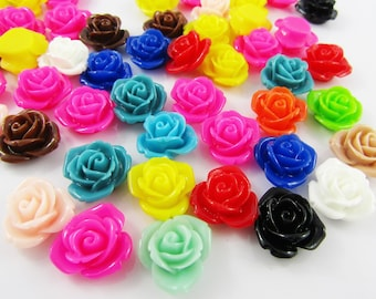 Mixed Multi-color Flower Slippers Flat Back Cabochon Polymer Clay 12x25mm 5pcs