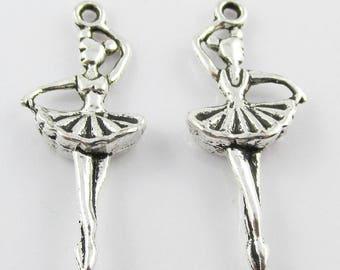 Bulk Prima Ballerina Dancer Charm Pendant Select Qty 5/10/20