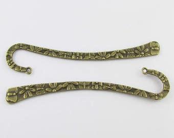 Bulk Daisy Flower Bookmark 122mm Antique Bronze Suit Beading Select Qty 1/5/10