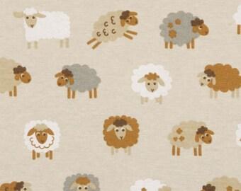 Schafe schwarz weiß natur 80/% Baumwolle Leinenoptik Canvas Stoff neu