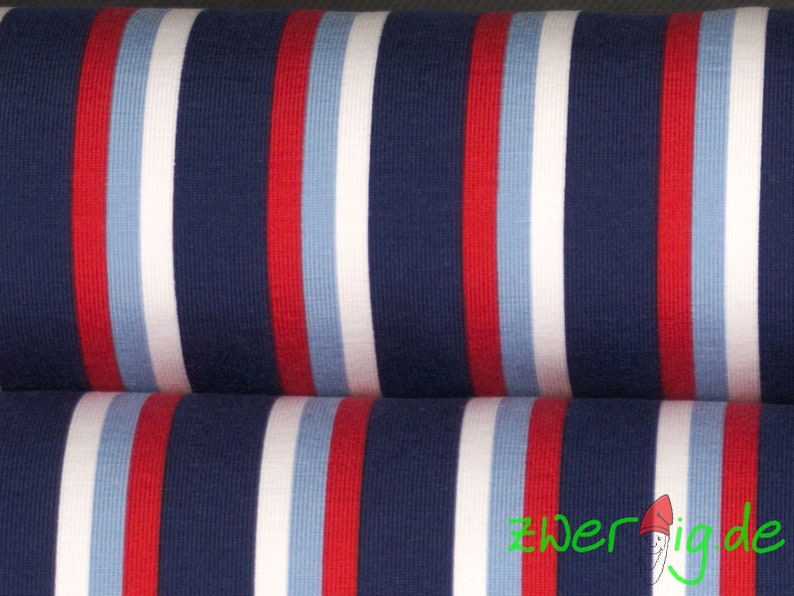 60b4164b7e57 Jersey fabric long striped maritime blue white