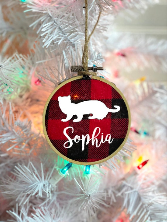 Personalized Pet Ornament, Ferret Christmas Ornament, Dog Ornament, Pet  Memorial Ornament, Buffalo Plaid, Embroidery Hoop Ornament - Personalized Pet Ornament Ferret Christmas Ornament Dog Etsy