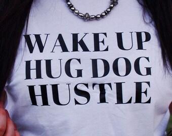 Wake Up Hug Dog Etsy