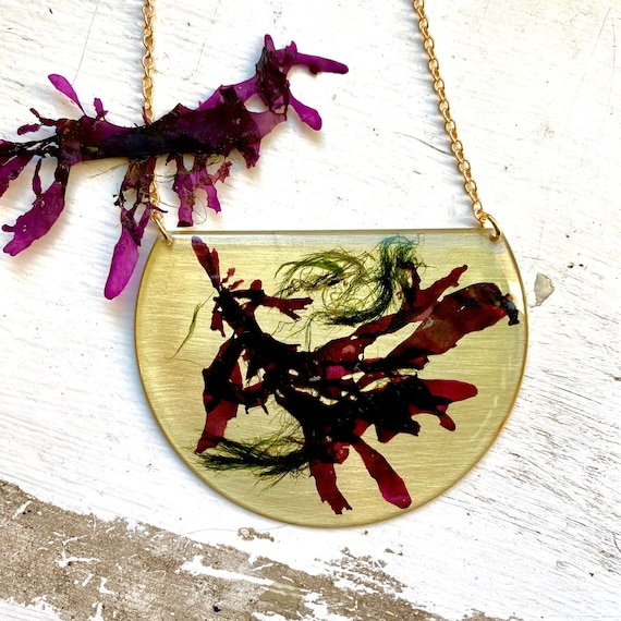 Isle of Skye seaweeds statement necklace