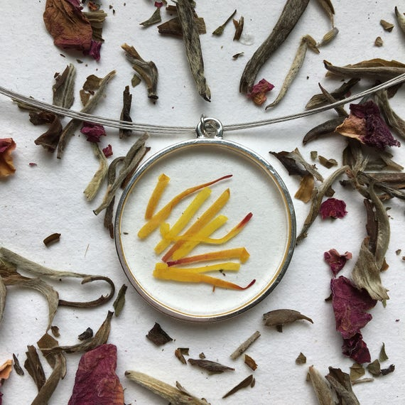witchhazel flower petal necklace