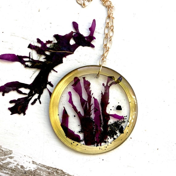 Isle of Skye dulse round dangly necklace