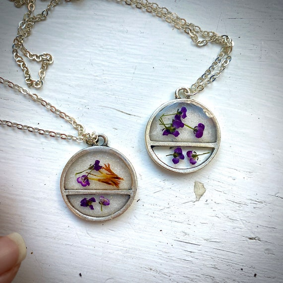 transected silver circle necklaces III