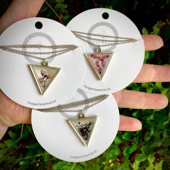 More assorted triangle silver necklaces