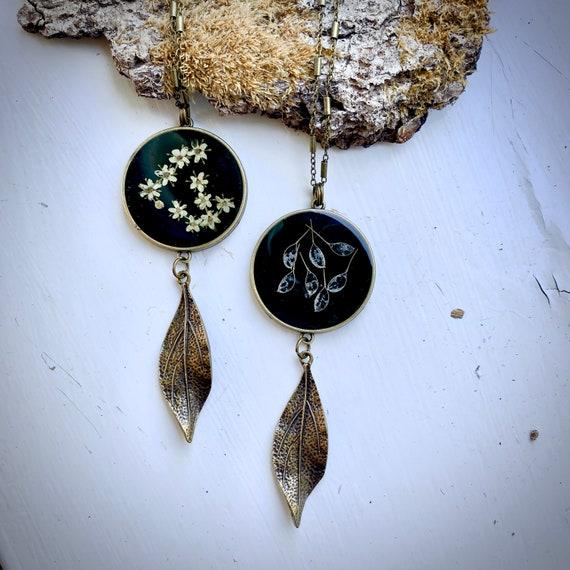 Antique bronze dangly necklaces