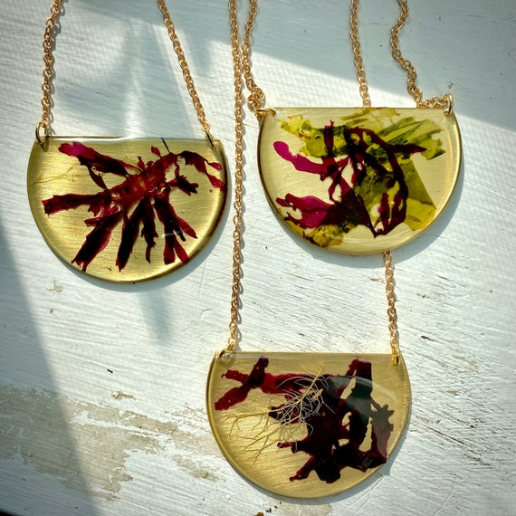 Isle of Skye dulse small plaque necklaces
