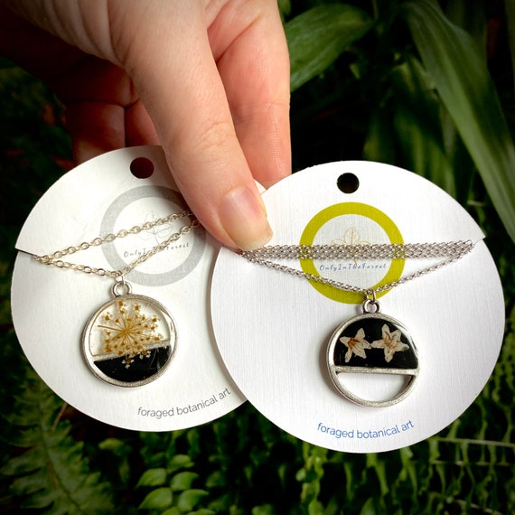 transected silver circle necklaces II