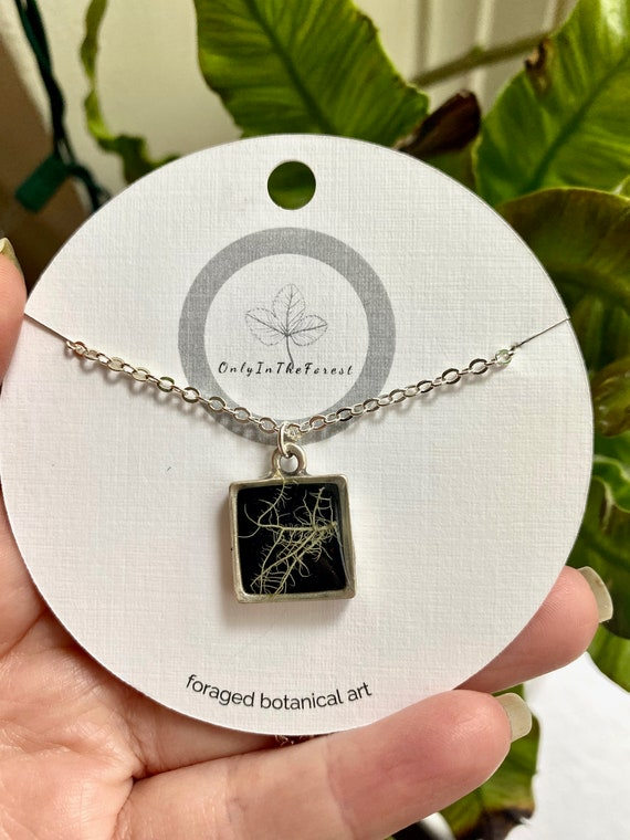 Bitty  silver square necklace
