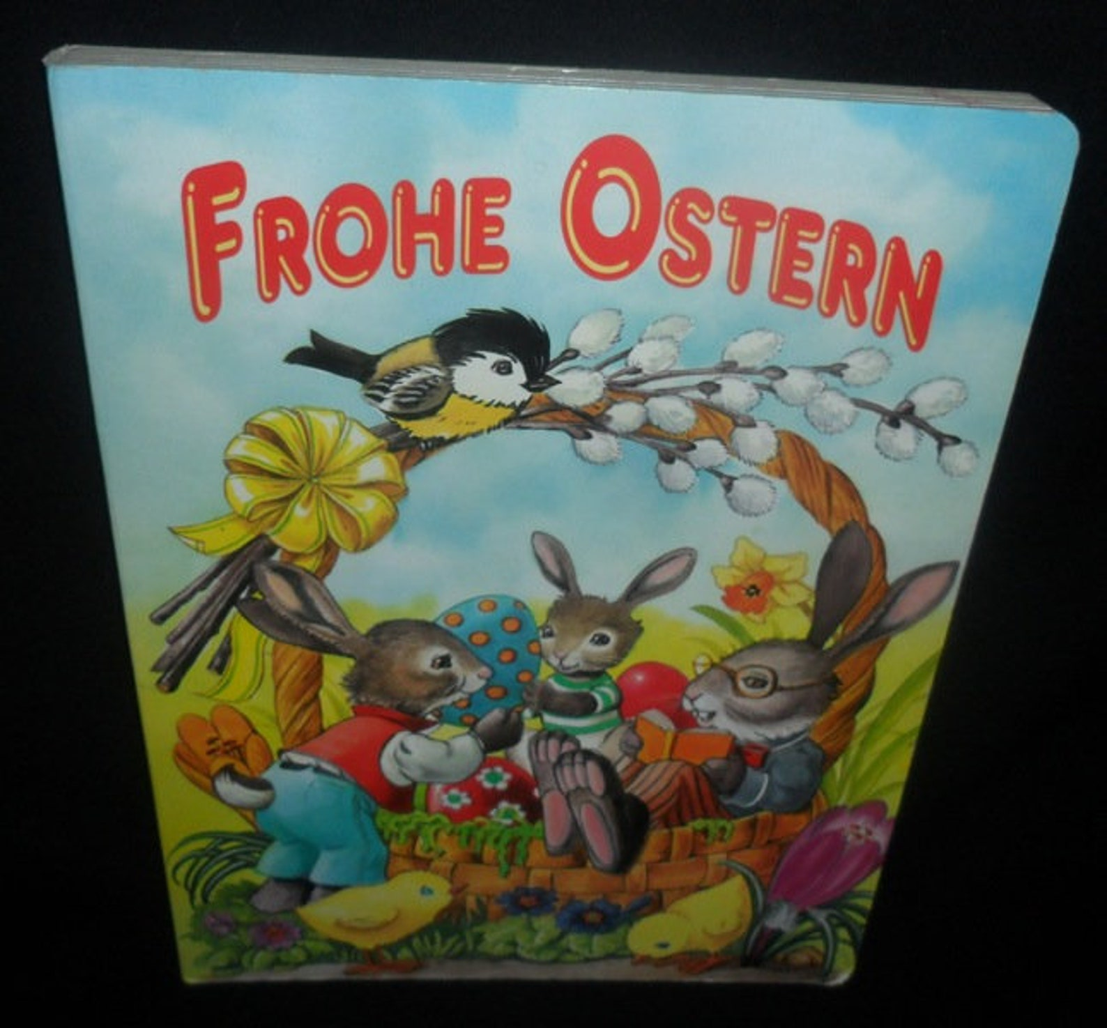 Vintage German Easter Childrens Book~Frohe Ostern~Happy Easter~Songs~Stories~Easter for Children~Hard Back and Hard Pages