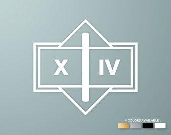 Destiny | Legend of Saint 14 emblem decal | Legend of Saint14 sticker