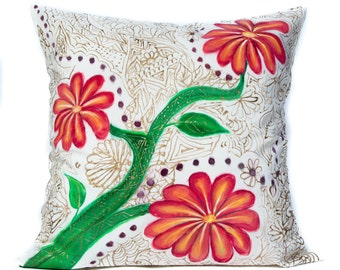 """Abstract Printed Pillow Cover Set Cushion Case Cover Green /& Off White12X18/"""""""