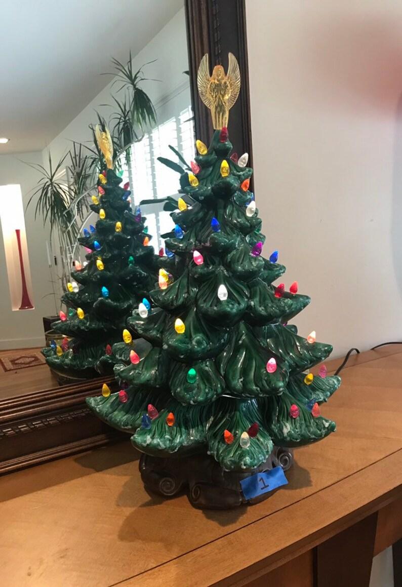Ceramic Christmas Tree 20 Including Angel 18 Tree