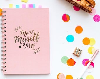 IVF DIARY  blush pink and silver - TTC - ivf planner - ivf diary - ivf journal