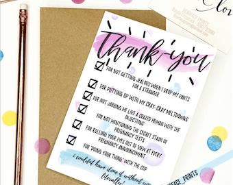 Thankyou - TTC/ IVF / Fertility /partner support card