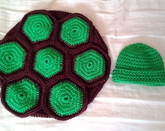 Turtle Baby Shell and Hat