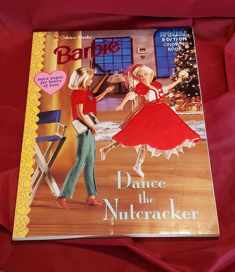 1998 Vintage Barbie Coloring Book Dance The Nutcracker