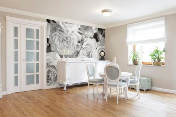 Gray Rose Petals Photo Wallpaper Wall Mural for Bedroom Wall Decor, Living  Room Decor, Office or Dining Room Walls