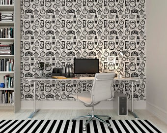 Large Clock Photo Wallpaper Wall Mural forDining Room Wall Decor, Office Decor, Kitchen Wall Art - Time after Time Wallpaper