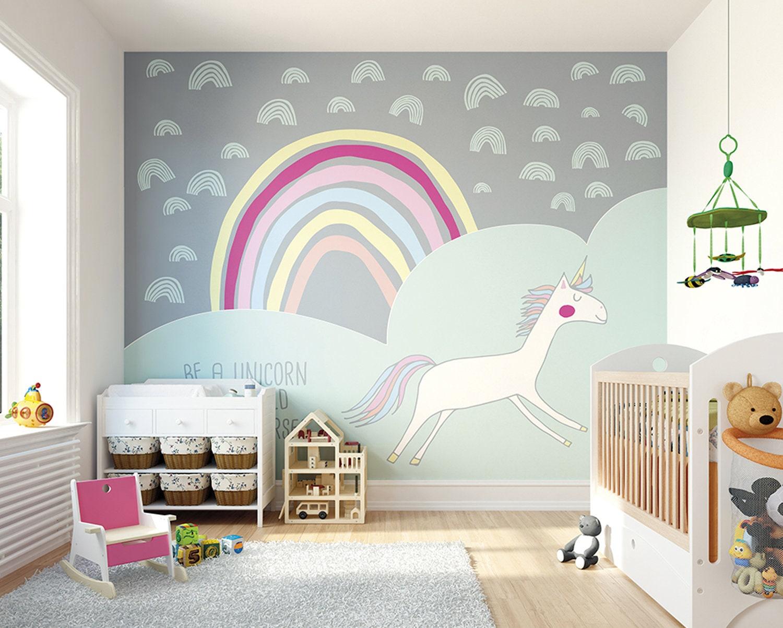 Sparkling Rainbow Vinyl Decal Kids Baby Room Art Sticker Nursery