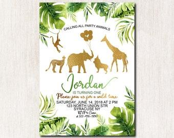 safari invitation etsy