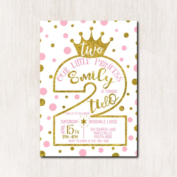 2nd Birthday Invitation Princess