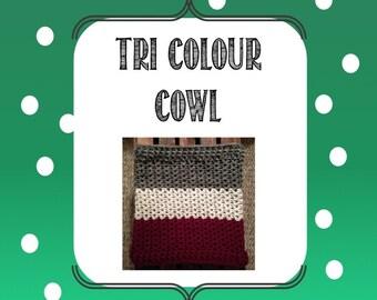 Tri-Colour Cowl Pattern