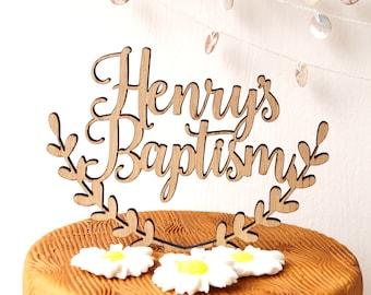 Baptism topper, Christening custom cake topper, personalized cake topper, custom baptism cake topper, baptism decor, blessing topper