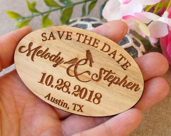 Save the date magnet, save the date, wedding save the dates, wooden save the date magnets, rustic save the dates, set of 25 pc