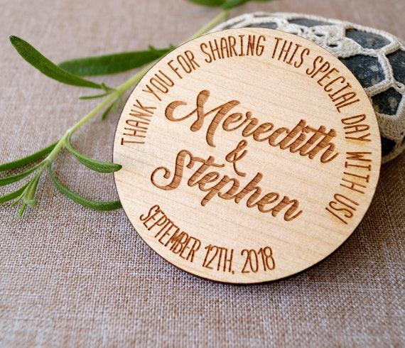 Gastgeschenke Hochzeit Holz Magnete Personalisierte Hochzeit Etsy