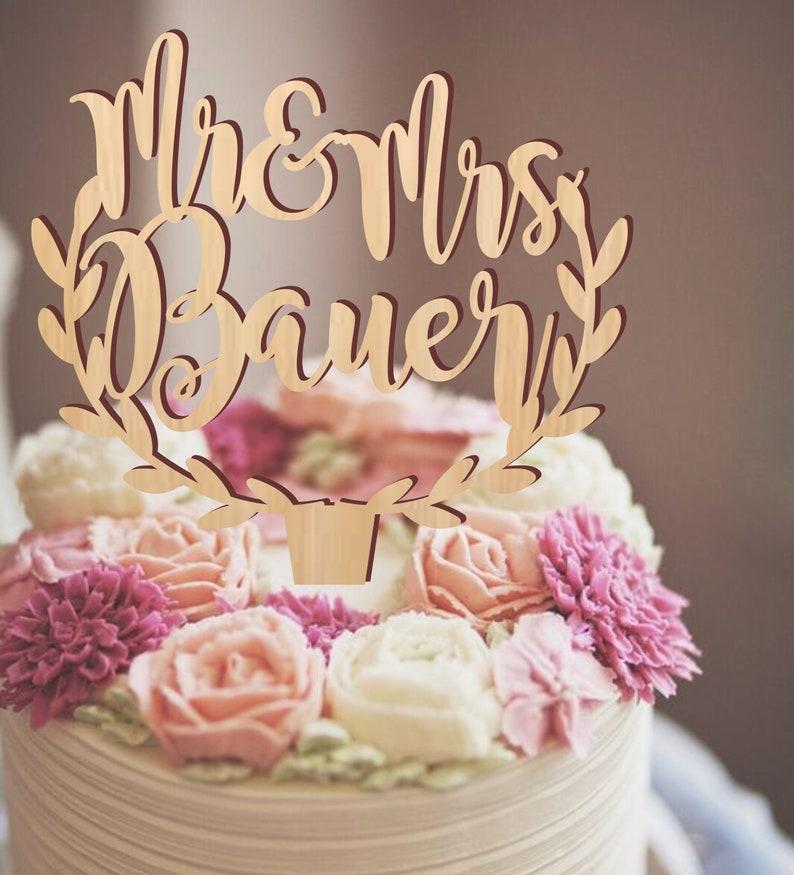 Mr & Mme cake topper, gâteau personnalisé, gâteau en bois rustique, gâteaux de mariage, toppers gâteau pour mariage