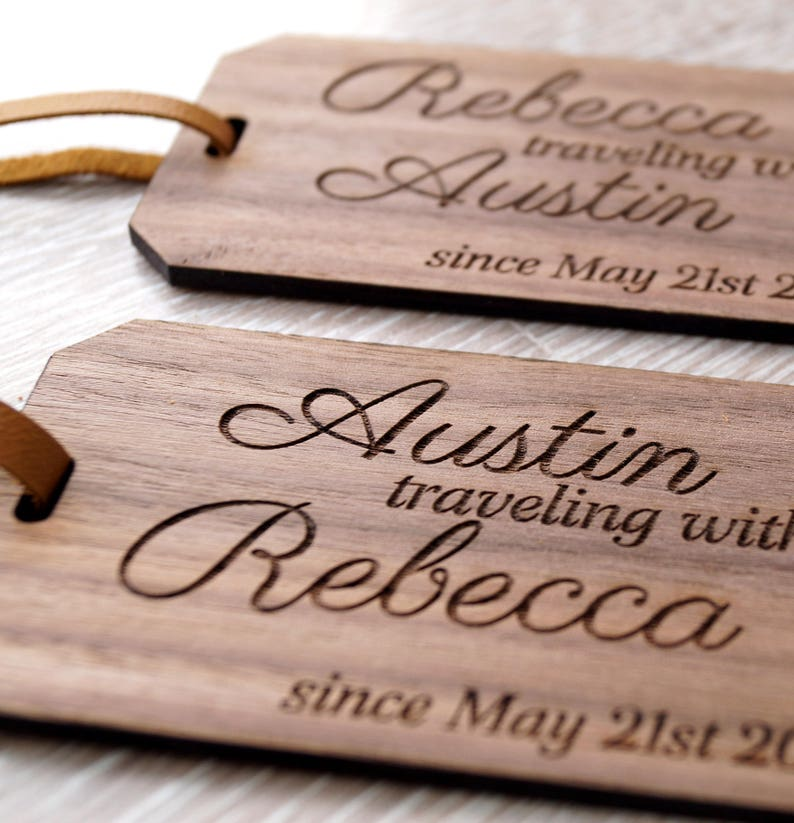Hochzeits Geschenk Idee 5 Hochzeitstag Geschenk Reise Tags Etsy