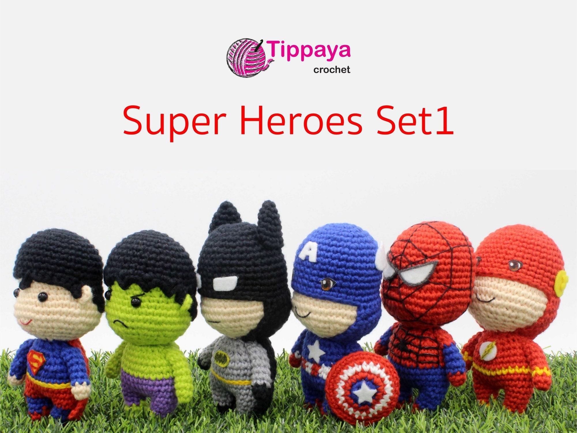 Crochet pattern of Super Heroes Set1 | Etsy