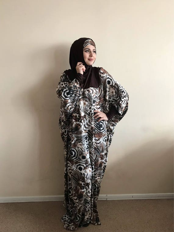 wear Plus Dress Maxi Muslim Farasha maternity dress abaya Size Dress Burqa Prayer Modern hijab dress Brown African clothing Caftan AHqzRBxH