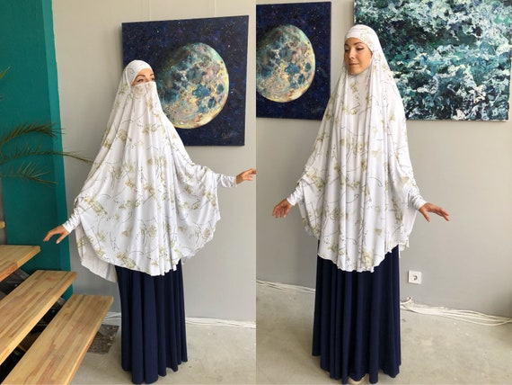 Transformator Weiss Khimar Hijab Jilbab Nikab Islamische Etsy