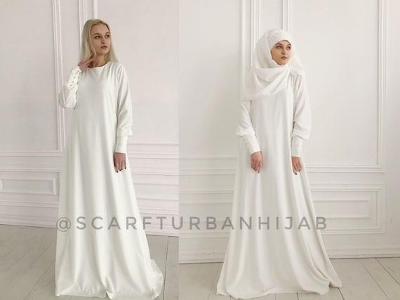 Muslim wedding dresses, bridal hijab, hikkah costume, islamic wedding  clothing