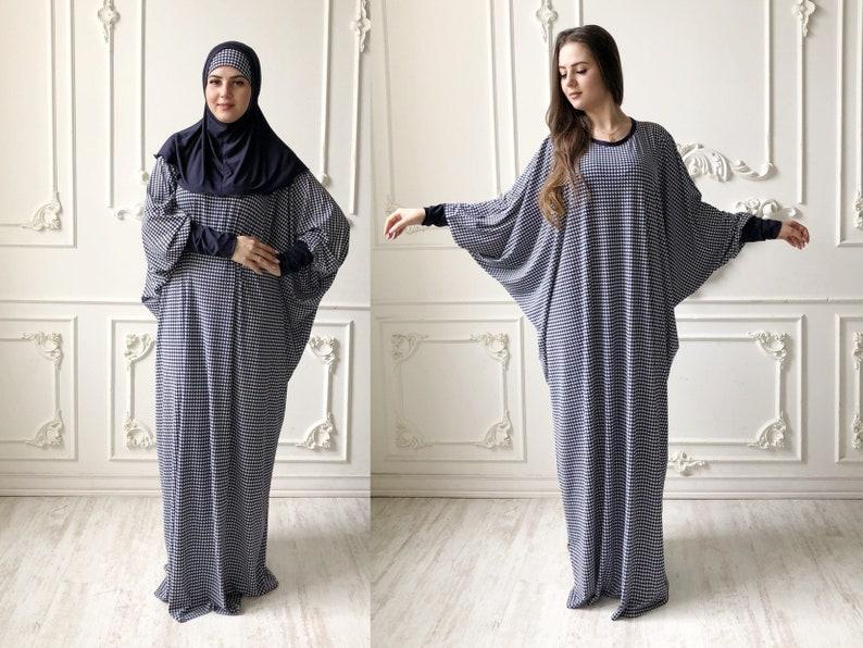 bdc160353ee Pied de poule bleu marine Maxi robe Plus la taille robe de