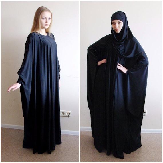 size size dress Muslim Abaya Farasha black dress Lace dress Elegant Kaftan muslim dress Ower bridal Plus Stylish Hijab Jilbab maxi fYwOqv