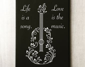 Guitar Love Quotes Etsy