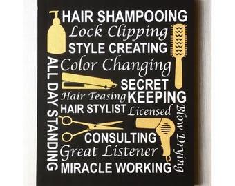 Hairdresser Decor / Hairdresser Scissors / Hair Salon Decor / Hairdresser Sign / Hairdresser Gift / Hair Stylist Decor / Hair Salon Art
