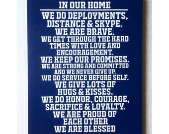 Military Sign / Army Sign / Military Family Gift / Deployment Sign / Deployment Gift / Soldier Wall Decor / Soldier Sign