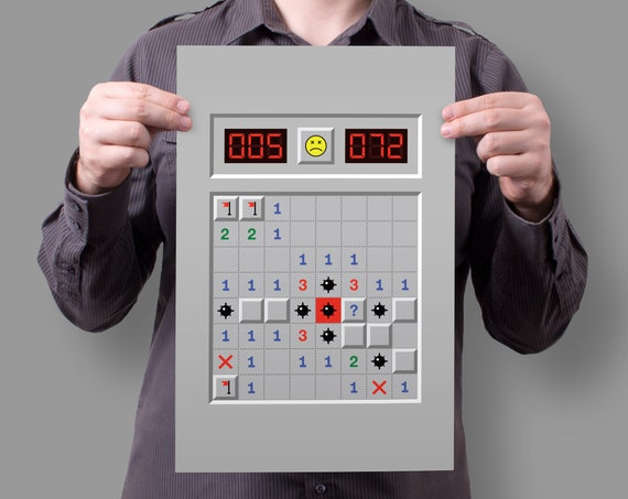 Minesweeper Windows 95 90's Game 11x17 Poster