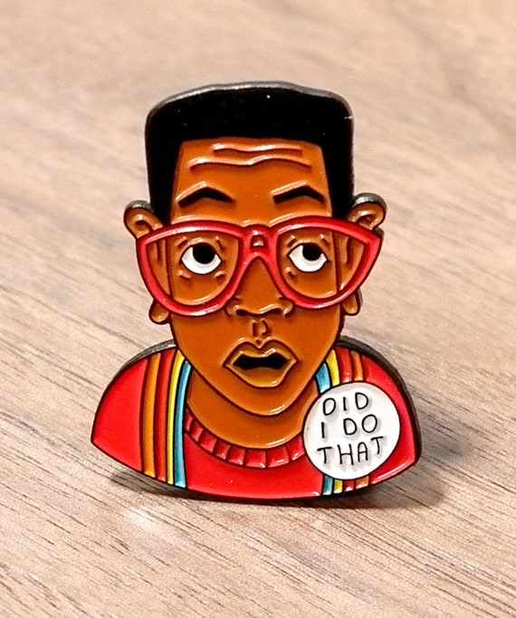 Steve Urkel Family Matters  90's ABC TV Show Baby Sinclair Did I do that enamel pin